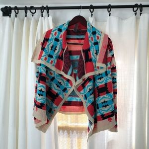 Moon Collection Aztec cardigan small